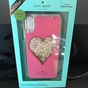 New Kate Spade iPhone XS Max case glitter heart